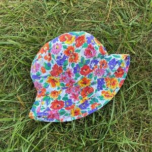 Vintage Accessories - Vtg floral 90s colorful bucket hat